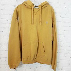 Champion Mens Pullover Hoodie Sweatshirt Yellow